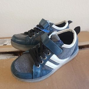 IDEA frames Blue Canvas & LEATHER shoes 13.5 KIDS